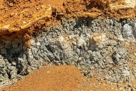 Geological deposit of blue clay. Blue clay is a rare natural natural cosmetic. Blue clay - a sign of the diamond deposit, is associated with a diamond kimberlite pipe. Natural geological wealth