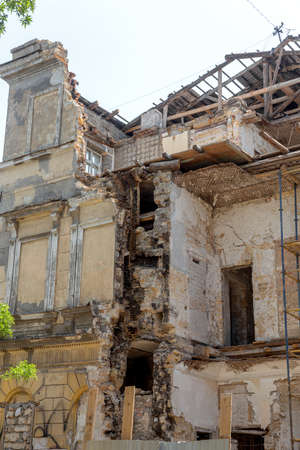 As result of violation of building codes during reconstruction of an old historic building, house collapsed. Violation of technology of repair and restoration of old building led to its collapse