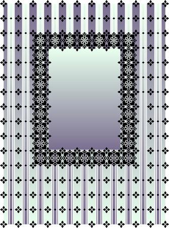 striped vertical blue and violet frame Vector