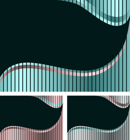 wawe: abstract striped different color background   Illustration
