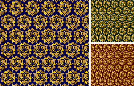 pattern with geometrical flowers Vector