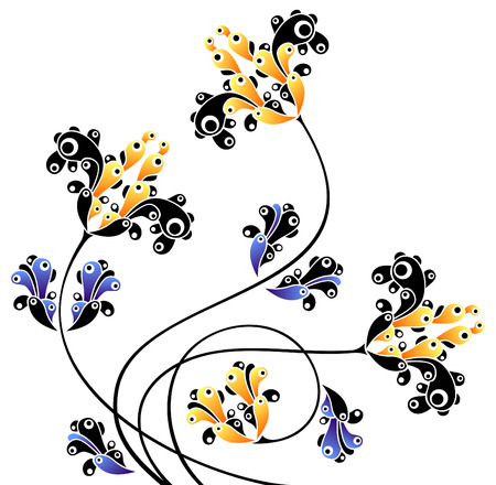 abstract ornamental flowers   Stock Vector - 5029779