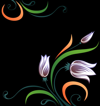 tulip with color leafs   Stock Vector - 5135481