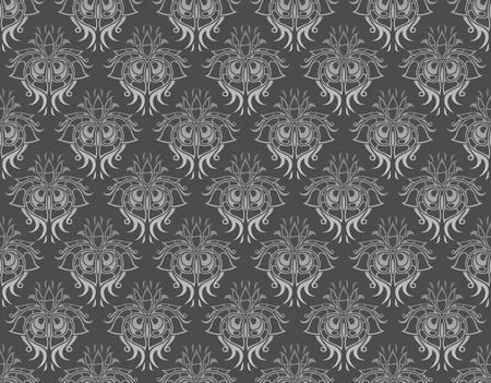 gray damask pattern   Vector