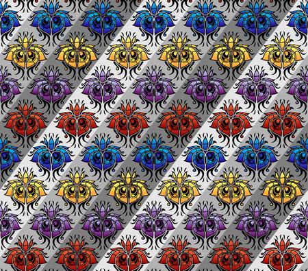 color silk pattern   Vector