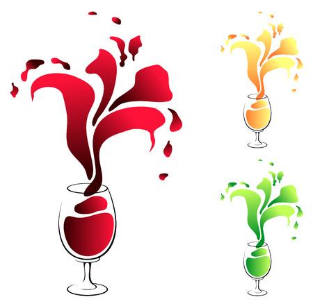 impulse: glass with wine