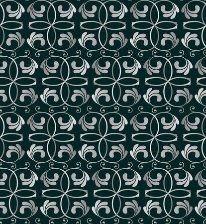 seamless silwer floral pattern   Vector