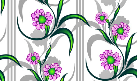 chapped: seamless floral pattern   Illustration