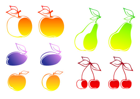set of fruits Stock Vector - 5448216