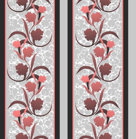 crannied: seamless floral pattern   Illustration