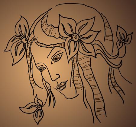 beatiful woman Vector