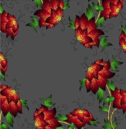 beatiful: beatiful red orchids   Illustration