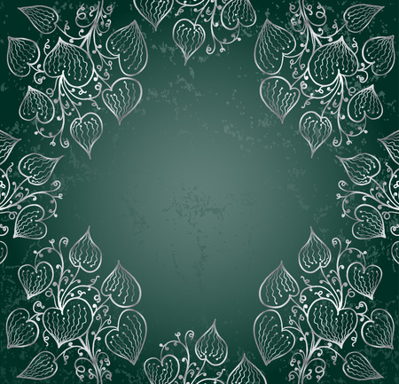 silver ivy on green   Vector