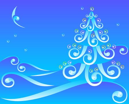 wawe: decoration pine  Illustration