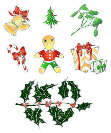 christmass: conjunto de Navidad tradicional