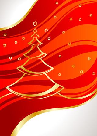 pinetree: tarjeta con �rbol de pino y estrellas