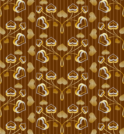 gilded: gilded seamless pattern