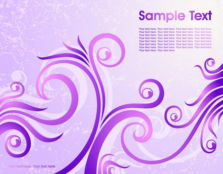 crannied: violet floral background