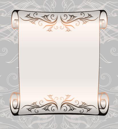 vellum: vecchio manoscritto di decorazione