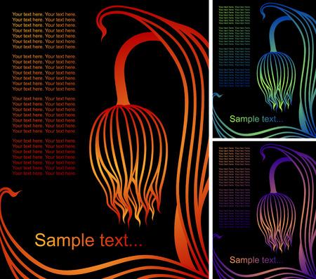 sloping: sloping tulip   Illustration
