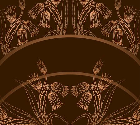 frame met tulips   Vector Illustratie
