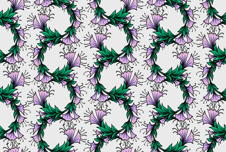 frizz: seamless pattern with bindweed