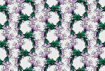 frizz pattern: seamless pattern with bindweed