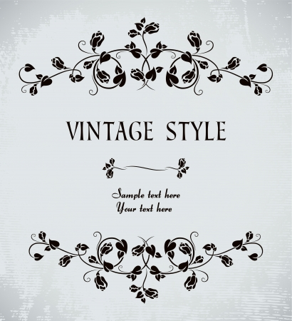 vintage frame with roses Stock Vector - 6573853