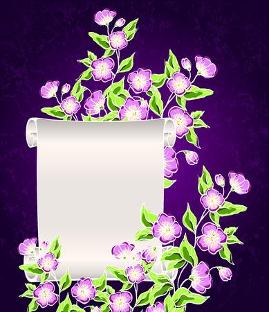 vellum: manoscritto con fiori di notte
