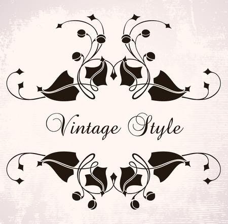 vignette: vintage frame