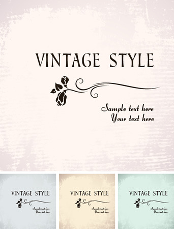 vintage background with rose   Stock Vector - 6606923