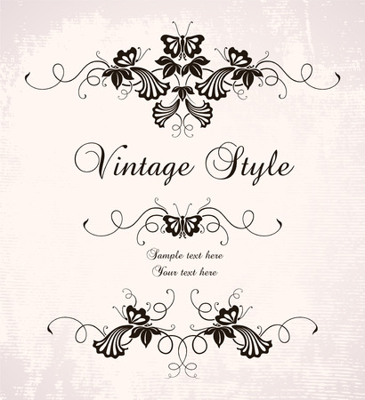 vintage frame with butterflies   Stock Vector - 6606915