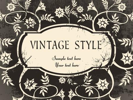 crannied: crannied vintage frame Illustration