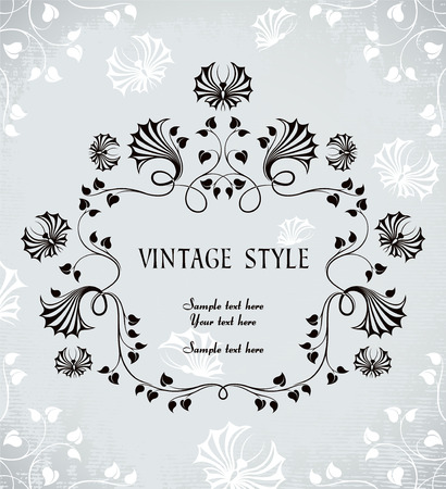 vintage frame with butterflies Stock Vector - 6760082