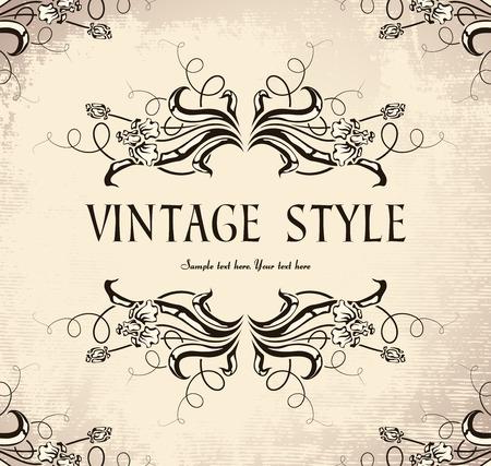 vintage frame with irises