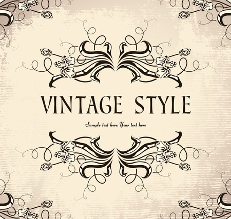 vintage frame with irises Stock Vector - 6760092