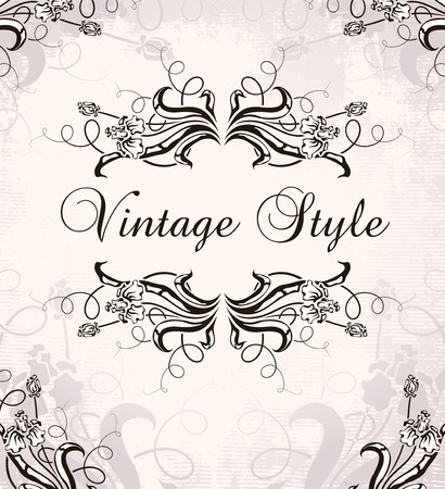 vintage frame with irises Stock Vector - 6760090