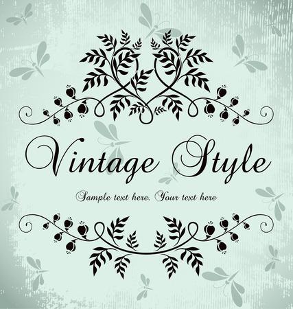 filigree: vintage frame