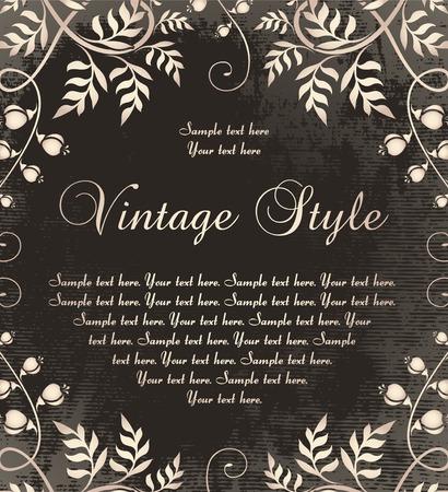 composition book: vintage frame on dark backdrop