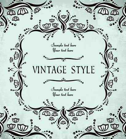 vintage floral frame Stock Vector - 6871721