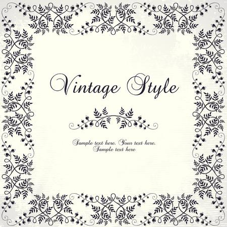 Vintage floralen frame