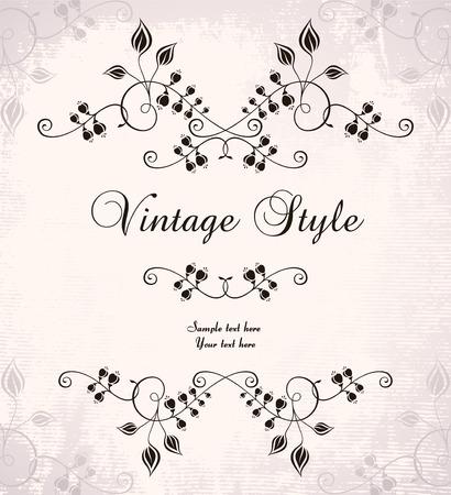 floral vintage frame Stock Vector - 6871710