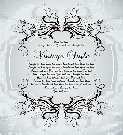 vintage frame with irises Stock Vector - 7014896