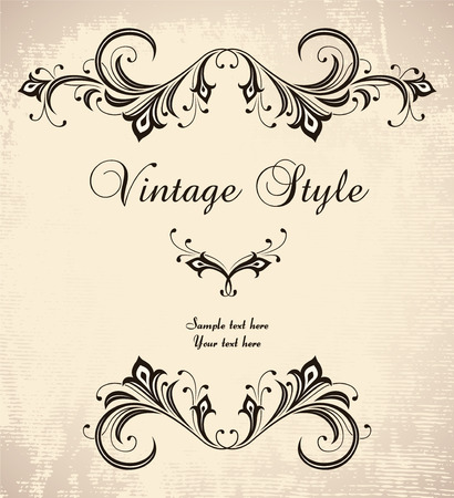vintage stylized frame Stock Vector - 7014878