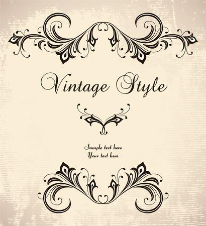 vintage stylized frame