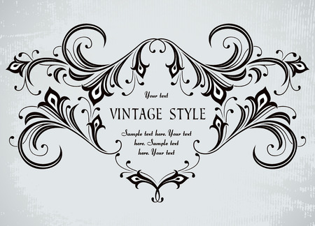 beautiful vintage frame Stock Vector - 7014886