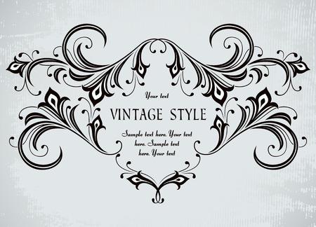 filigree: prachtige vintage frame  Stock Illustratie