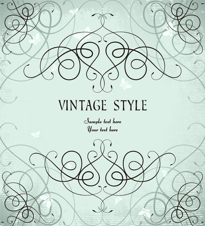 vintage ornate frame Stock Vector - 7014880