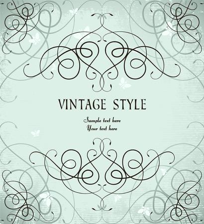 vintage ornate frame Stock Vector - 7014880
