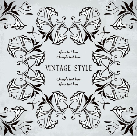 vintage frame with flowers Stock Vector - 7014884